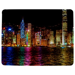 Light Water Cityscapes Night Multicolor Hong Kong Nightlights Jigsaw Puzzle Photo Stand (Rectangular)