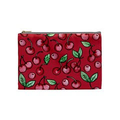 Cherry Cherries For Spring Cosmetic Bag (Medium)