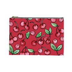 Cherry Cherries For Spring Cosmetic Bag (Large)