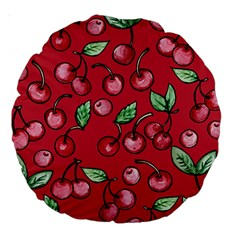 Cherry Cherries For Spring Large 18  Premium Round Cushions