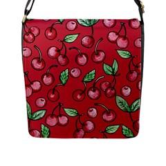 Cherry Cherries For Spring Flap Messenger Bag (L)