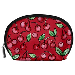 Cherry Cherries For Spring Accessory Pouches (Large)