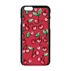Cherry Cherries For Spring Apple Iphone 6/6s Black Enamel Case