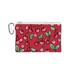 Cherry Cherries For Spring Canvas Cosmetic Bag (S)