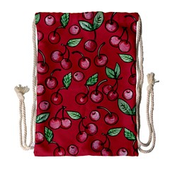 Cherry Cherries For Spring Drawstring Bag (Large)