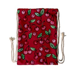 Cherry Cherries For Spring Drawstring Bag (Small)