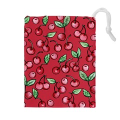 Cherry Cherries For Spring Drawstring Pouches (extra Large)