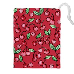 Cherry Cherries For Spring Drawstring Pouches (XXL)