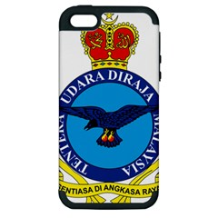 Crest Of Royal Malaysian Air Force Apple Iphone 5 Hardshell Case (pc+silicone)