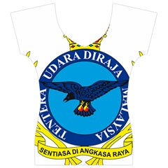 Crest of Royal Malaysian Air Force Women s V-Neck Cap Sleeve Top
