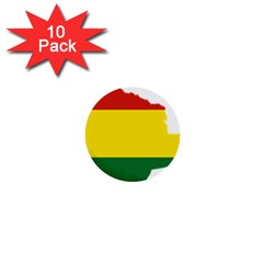Flag Map Of Bolivia 1  Mini Buttons (10 Pack)