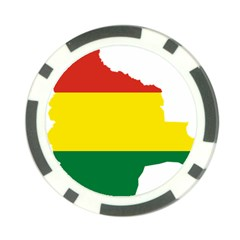 Flag Map Of Bolivia Poker Chip Card Guards