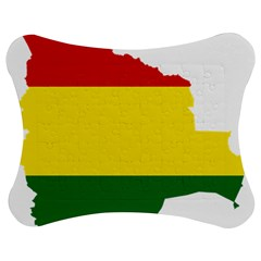 Flag Map of Bolivia Jigsaw Puzzle Photo Stand (Bow)