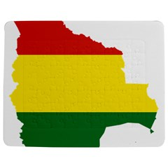 Flag Map Of Bolivia Jigsaw Puzzle Photo Stand (rectangular)