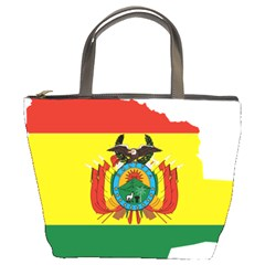 Flag Map Of Bolivia  Bucket Bags