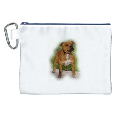 Staffordshire Bull Terrier Full Canvas Cosmetic Bag (XXL)