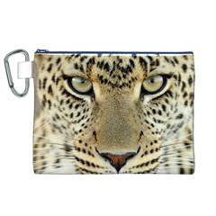 Leopard Face Canvas Cosmetic Bag (XL)