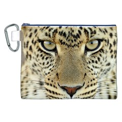Leopard Face Canvas Cosmetic Bag (XXL)