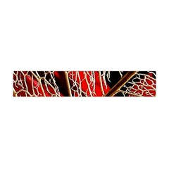 Leaf Pattern Flano Scarf (Mini)