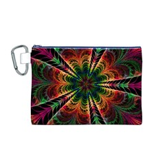 Kaleidoscope Patterns Colors Canvas Cosmetic Bag (M)