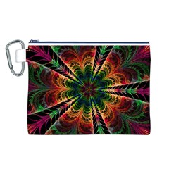 Kaleidoscope Patterns Colors Canvas Cosmetic Bag (L)