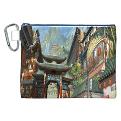 Japanese Art Painting Fantasy Canvas Cosmetic Bag (XXL)