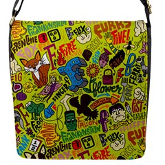 F Pattern Cartoons Flap Messenger Bag (s)