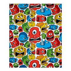 Face Creeps Cartoons Fun Shower Curtain 60  X 72  (medium)