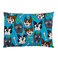 Face Dog And Bond Pillow Case