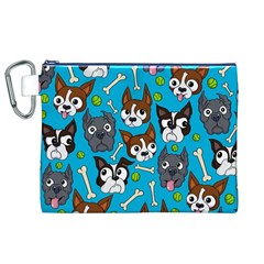 Face Dog And Bond Canvas Cosmetic Bag (XL)