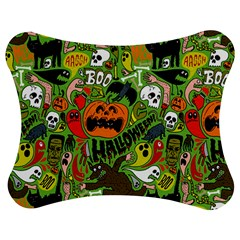 Halloween Pattern Jigsaw Puzzle Photo Stand (Bow)