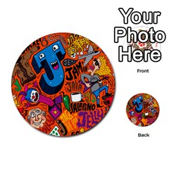 J Pattern Cartoons Multi Purpose Cards (round)