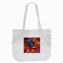 J Pattern Cartoons Tote Bag (White)