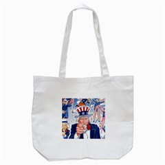 Independence Day United States Of America Tote Bag (White)