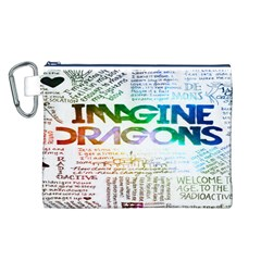 Imagine Dragons Quotes Canvas Cosmetic Bag (L)