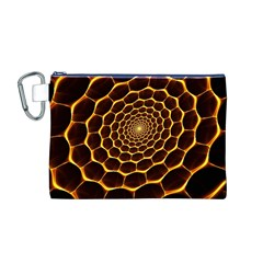 Honeycomb Art Canvas Cosmetic Bag (M)