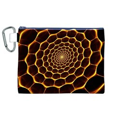 Honeycomb Art Canvas Cosmetic Bag (XL)