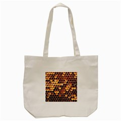 Honey Honeycomb Pattern Tote Bag (Cream)