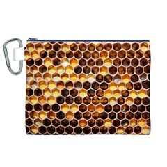 Honey Honeycomb Pattern Canvas Cosmetic Bag (XL)