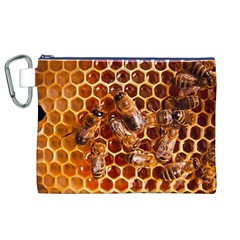 Honey Bees Canvas Cosmetic Bag (XL)