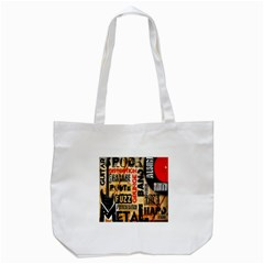 Guitar Typography Tote Bag (White)