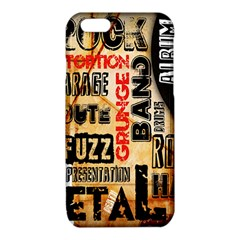 Guitar Typography iPhone 6/6S TPU Case