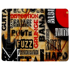 Guitar Typography Jigsaw Puzzle Photo Stand (Rectangular)