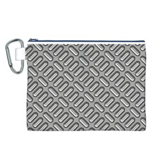 Grey Diamond Metal Texture Canvas Cosmetic Bag (L)