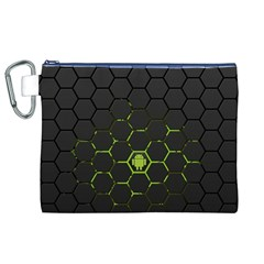 Green Android Honeycomb Gree Canvas Cosmetic Bag (XL)