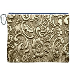 Golden European Pattern Canvas Cosmetic Bag (XXXL)
