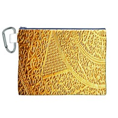 Gold Pattern Canvas Cosmetic Bag (XL)