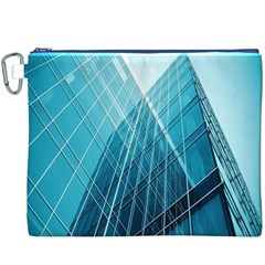 Glass Building Canvas Cosmetic Bag (XXXL)