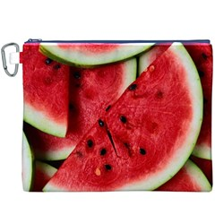 Fresh Watermelon Slices Texture Canvas Cosmetic Bag (XXXL)