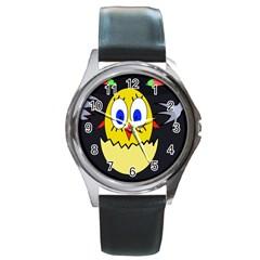 Chicken Round Metal Watch